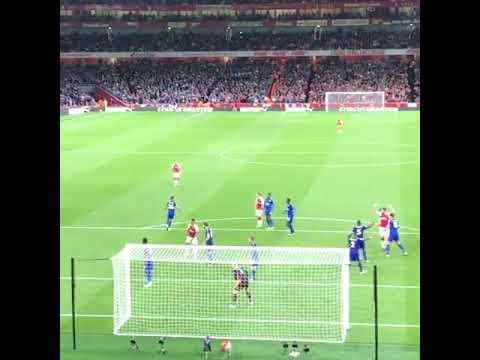 Oliver Giroud Goal  - Arsenal vs leicester 4-3 11/8/17