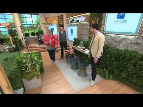 Scott Living 3-in-1 Garden Stool, Table & Planter With Carolyn Gracie