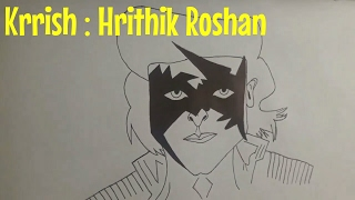 How to Draw Krrish | Indian Superhero | Let
