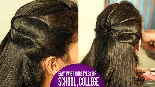 Everyday EASY Twist Hairstyles for School, College | Latest Hairstyles 2018