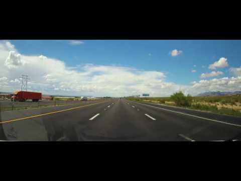 Driving on Interstate 10 from Texas Border to Deming, New Mexico