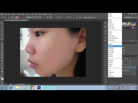 Xóa mụn làm bóng da mặt với photoshop cs6 - [remove acne using photoshop]