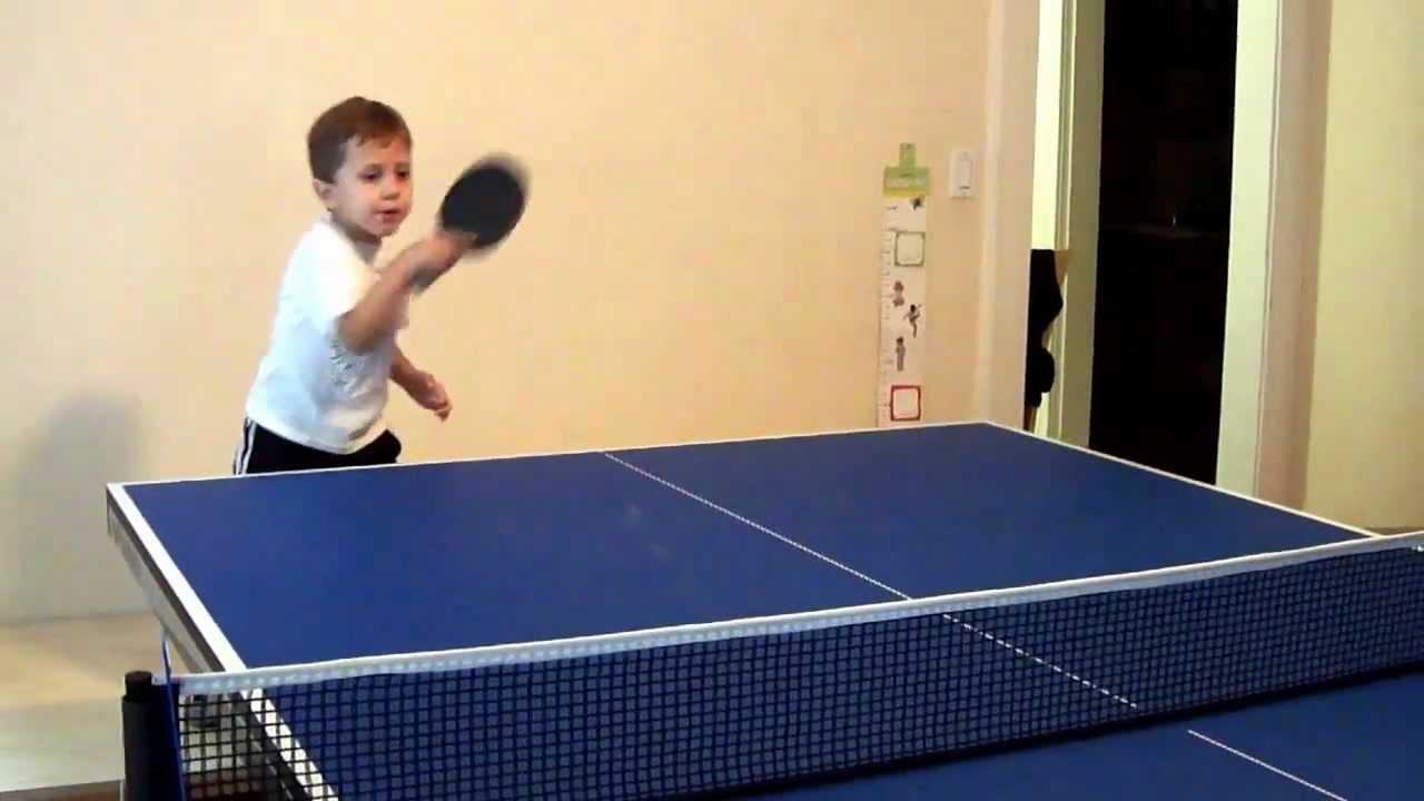 Polish Kid Playing Ping Pong (table Tennis)   YouTube