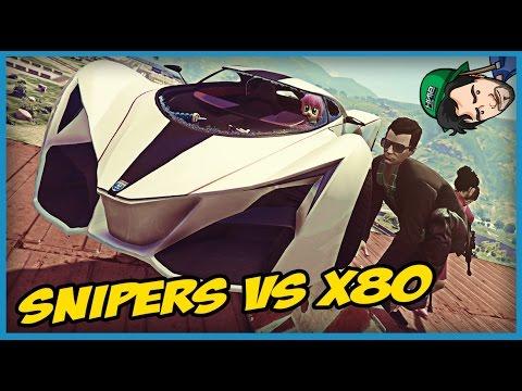 GTA V ONLINE: O CARA QUE CAIU DO TS!! Snipers Vs X80
