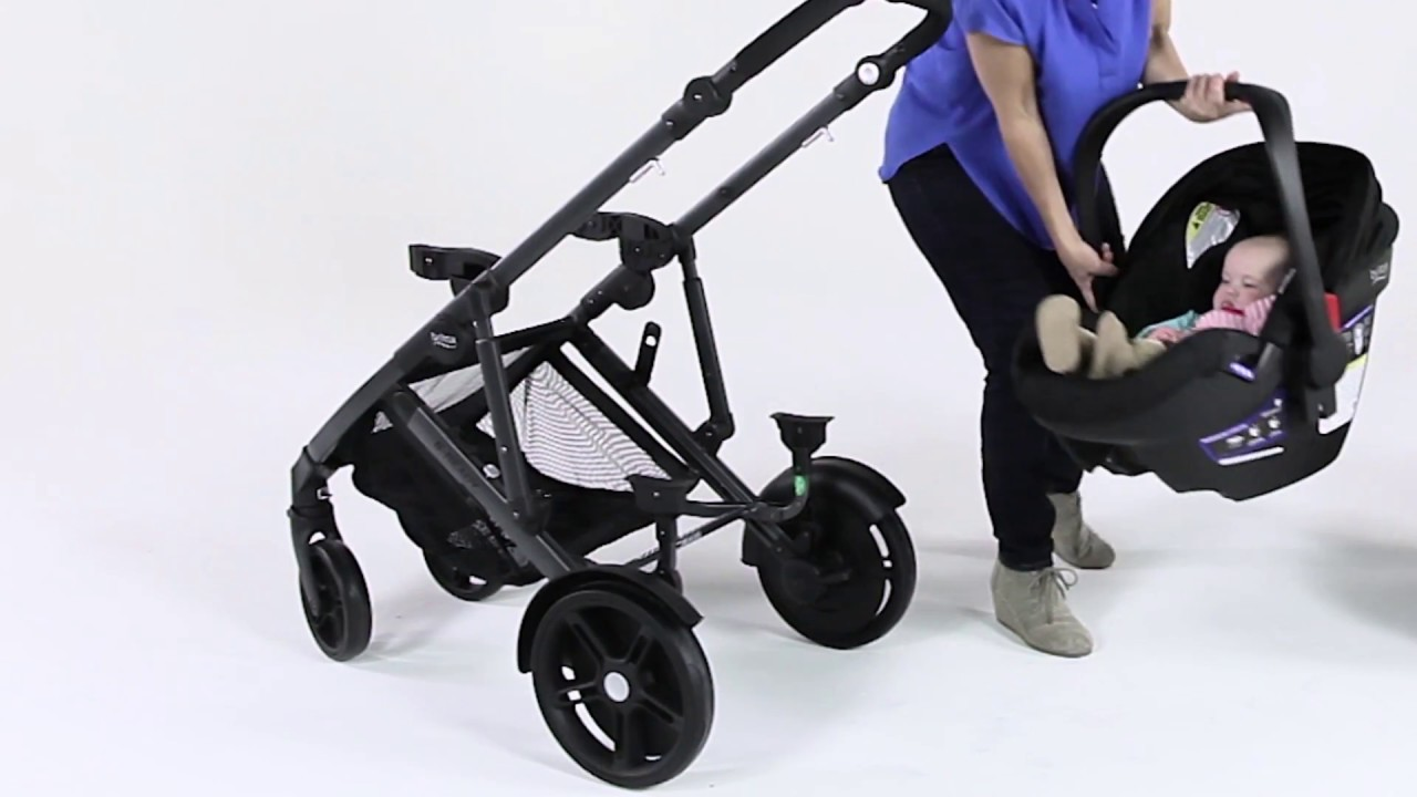 How To Remove Britax Car Seat From B Agile Stroller