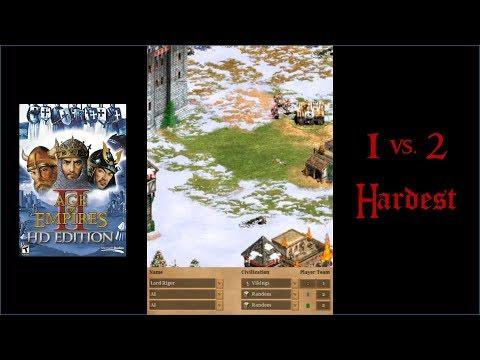 Age of Empires II: 1v2 Hardest AI [Scandinavia]