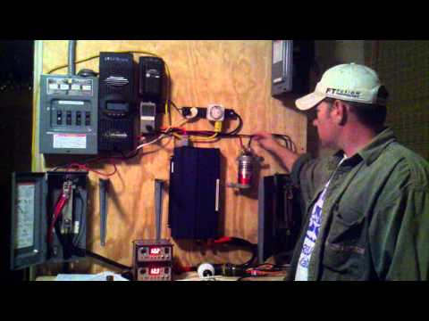 Solar Power Setup Testing, MPPT Outback Flex Max 80, 500K uf Capacitor Update