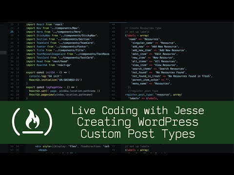 Creating WordPress Custom Post Types – Live Coding With Jesse