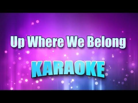 Cocker, Joe & Jennifer Warnes - Up Where We Belong (Karaoke & Lyrics)