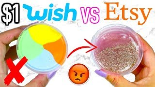 $1 WISH SLIME VS $1 ETSY SLIME! Which Is Worth It?!?