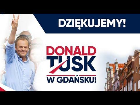 Donald Tusk w Gdańsku - 19 lipca 2021 r.