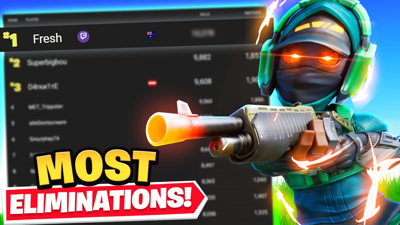 I GOT THE MOST ELIMS IN FORTNITE