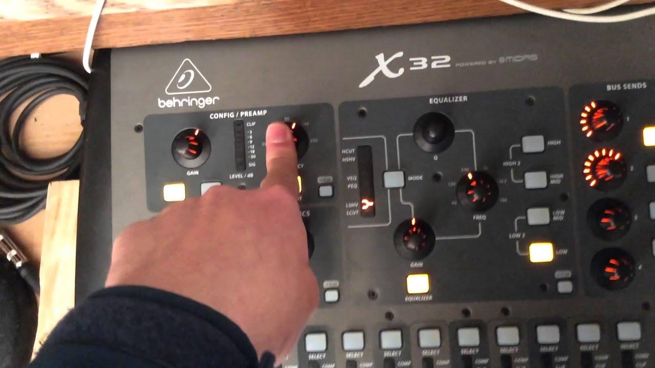 radius Audio Training - Behringer X32 - Gain, Low Cut, EQ