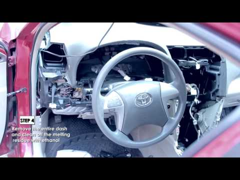 HOW TO REPAIR A TOYOTA CAMRY MELTING DASH BOARD.