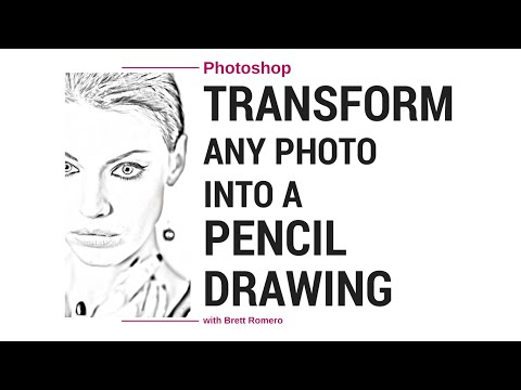 Photoshop : How to Convert Photo image into Pencil Drawing