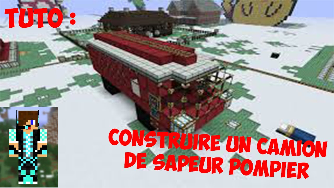Minecraft tuto comment faire un camion de pompier youtube - Comment dessiner un camion de pompier ...