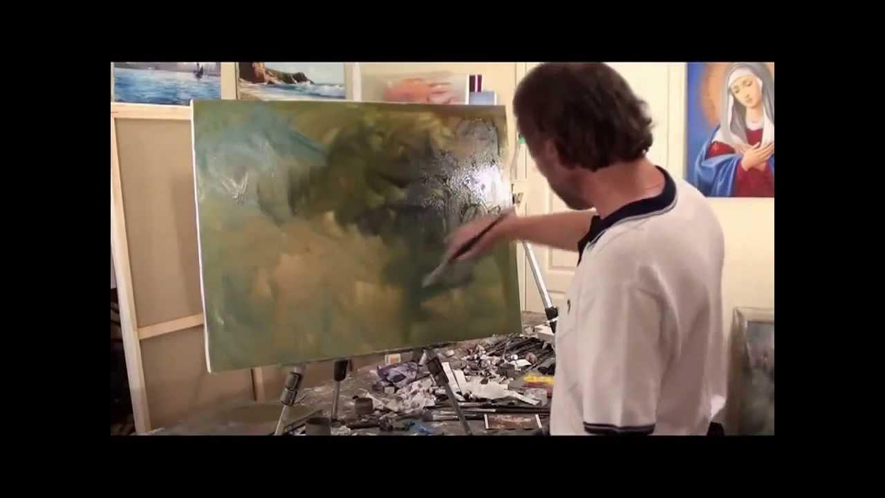 Pittura ad olio Sakharov come  stato fatto da Van Gogh