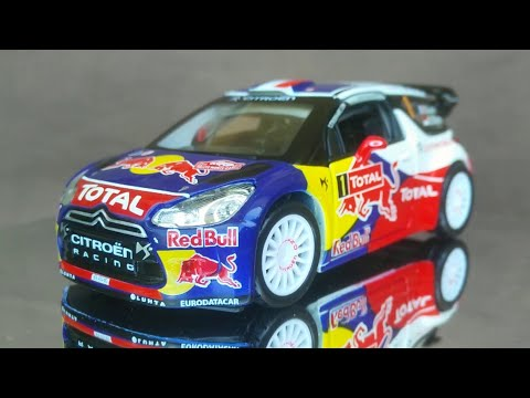 Citroen DS3 WRC (Rally Monte Carlo 2012) 1:32 Scale bburago Diecast Car