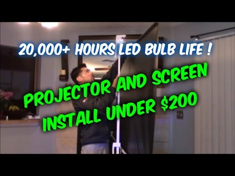 How to setup a home theater projector and screen for under 200 dollars