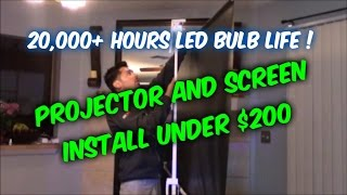 Video How to setup a home theater projector and screen for under 200 dollars download MP3, 3GP, MP4, WEBM, AVI, FLV Juni 2018