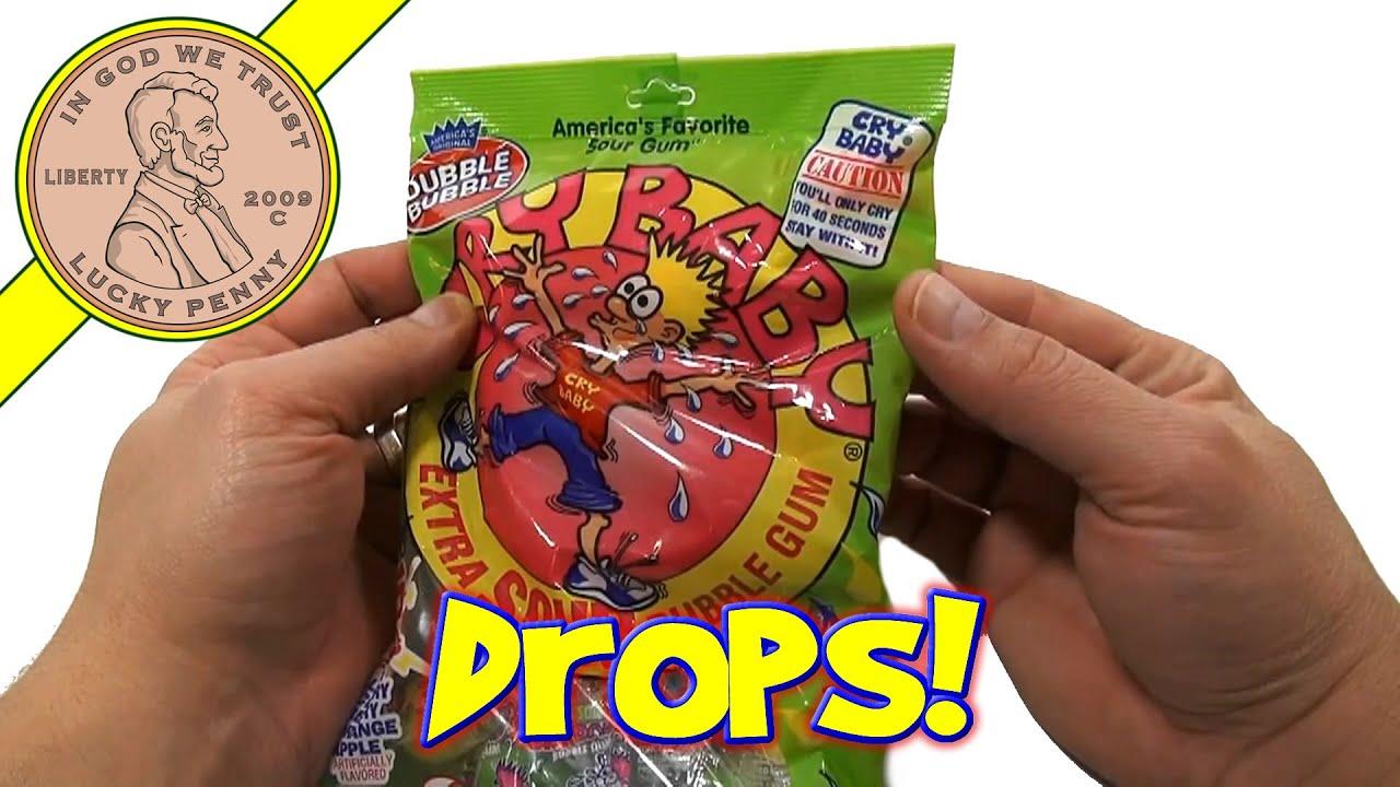Dubble Bubble Cry Baby Extra Sour Bubble Gum Unique