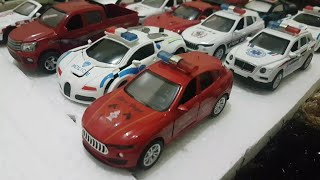 driving toy cars and police cars play review video for kids