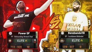 A 99 OVERALL LOCKDOWN challenged me to a best out of 3 in NBA 2K19! DEMIGOD BEST BUILD