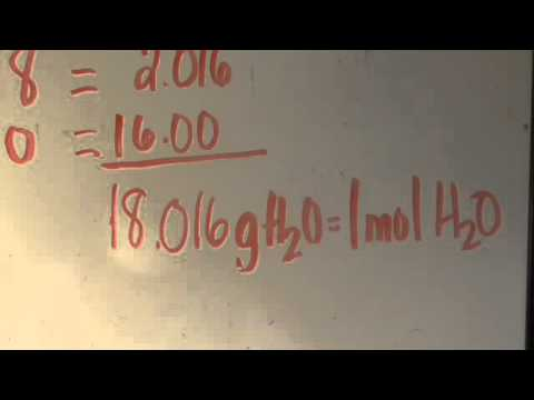 Molar Mass Of Water Pt 2