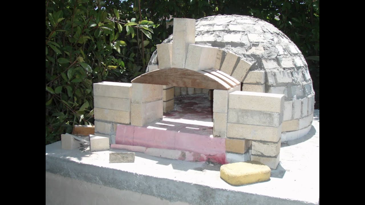 Building A Wood Fired Pizza Oven building a pizza oven dome - YouTube