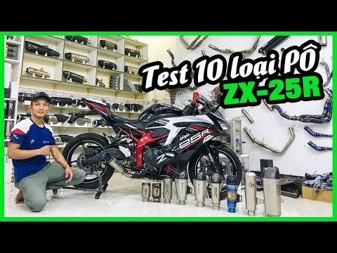 Nghe thử 10 MẪU PÔ trên Kawasaki ZX25R | ZX25R độ pô test sound Phượt Safety Sài Gòn