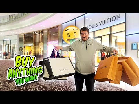 TAKING MY DAD ON A SHOPPING SPREE IN THE WORLDS BIGGEST MALL