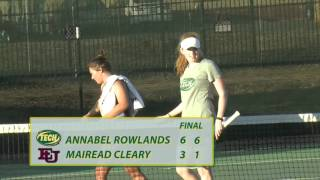 Tech Women's Tennis vs. Evangel Highlights 2/5/16