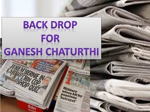 Ganesh Chaturthi Background Decorations From Newspaper|| DIY|| 2019 || Backdrop