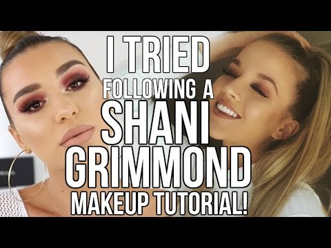 I TRIED FOLLOWING A SHANI GRIMMOND MAKEUP TUTORIAL!