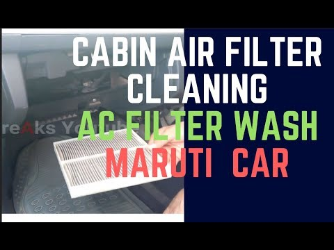 CAR AC Cabin Filter Cleaning    Maruti Cars AC cooling tips