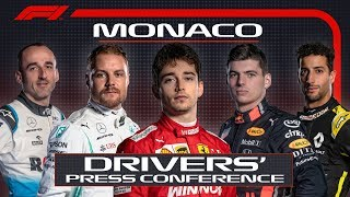 2019 Monaco Grand Prix: Pre-Race Press Conference