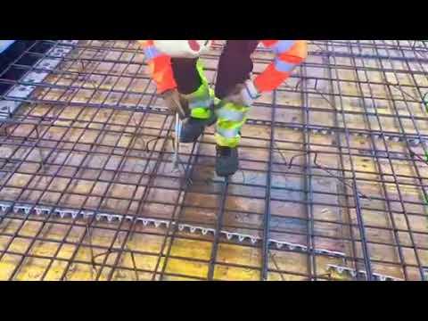 Скорость вязки арматуры крючком