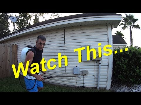 How To Pressure Wash WITHOUT a Pressure Washer Part 1 - House Wash for Rookies