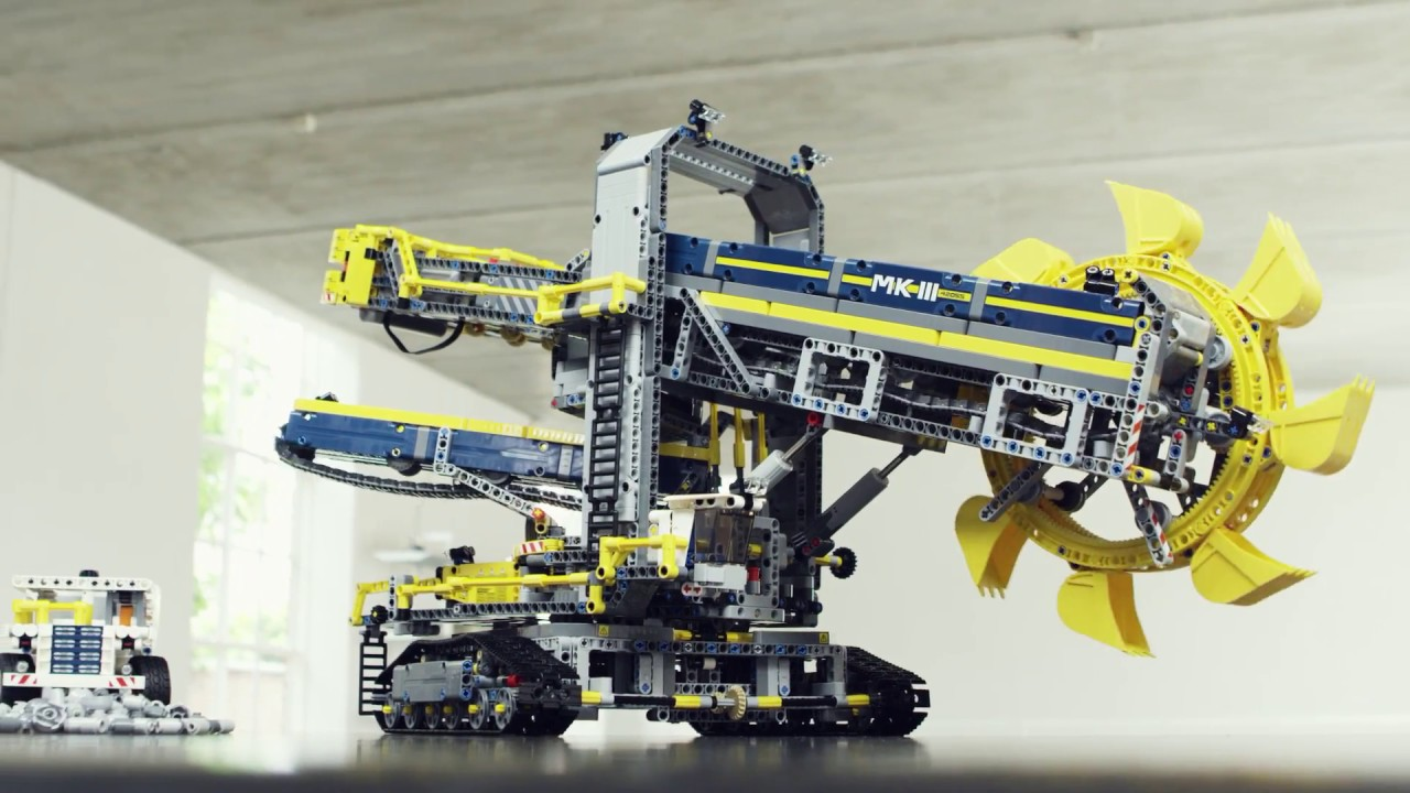 lego technic schaufelradbagger 42055 ab 213 67. Black Bedroom Furniture Sets. Home Design Ideas