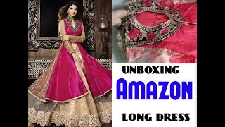 Unboxing Amazon long dress#review on Amazon party wear dress#long amazone dress