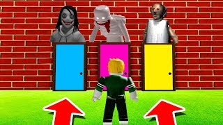 ROBLOX : DO NOT CHOOSE THE WRONG DOOR! (Jeff The Killer, SCP-096 & Granny)