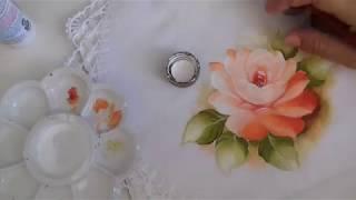Pintura em Tecido – Aprenda Pintar Rosas, Folhas e Acabamento – Passo a Passo
