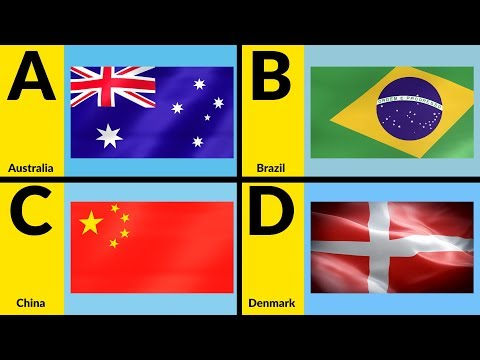 ABC Countries For Children - Learn Alphabet With Countries And Flags For Toddlers & Kids