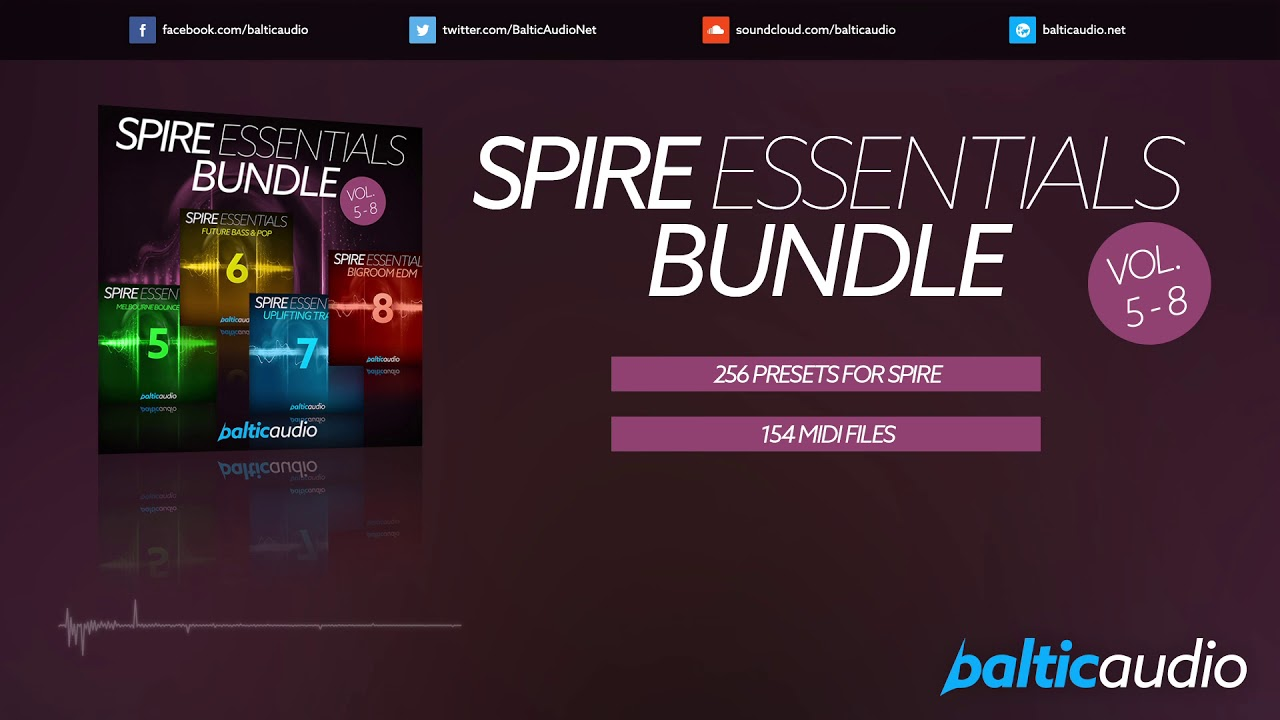 Spire Essentials Bundle (Vols 5-8) (256 Spire Presets, 154 MIDI files)