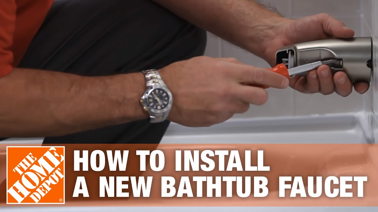 See How Easy It Is To Install A New Bathtub Faucet Using The Sioux Chief  Smart Spout   The Home Depo   YouTube