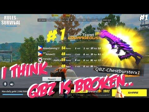 I Think QBZ Is Broken - Rules Of Survival Chicken Dinner (Tagalog) #1
