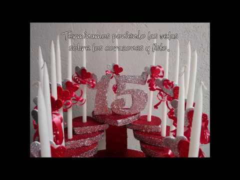 Decoraci n vela 15 a os candle decoration youtube for Decoracion para 15 anos 2016