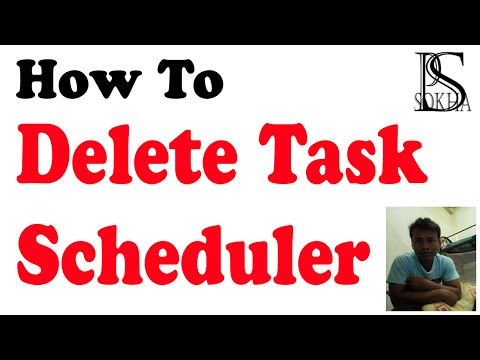 How to delete Task Scheduler