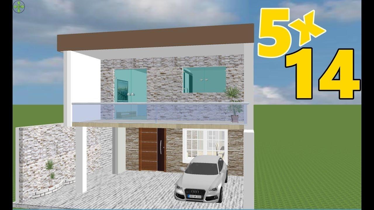 Download planta 3d para sobrado 5x14/3d floor plan 5x14