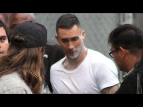 Adam Levine Flour-Bombed in Hollywood!